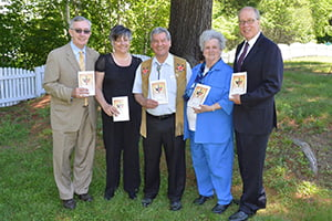 (l to r: Dr. Peter & Lottie Reid, Lieutenant Governor Graydon Nicholas, Shirley Giberson, Rev. Doug Hapeman)