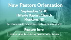 New Pastors Orientation 2018